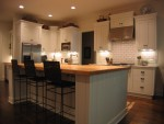 "Highlight for Album: Kitchen with full insert door.2""hard maple butcher block."